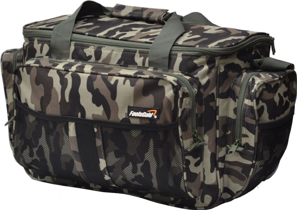 Large Camoflage Insulated foolsGold Fishing Holdall Bag